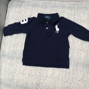 Ralph Lauren Big Pony navy l/s polo
